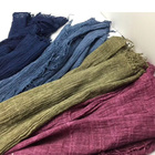 Made in PRC high quality hangzhou factory europe leisure wrap shawls man woman maxi solid plain 100%cotton natural scarf