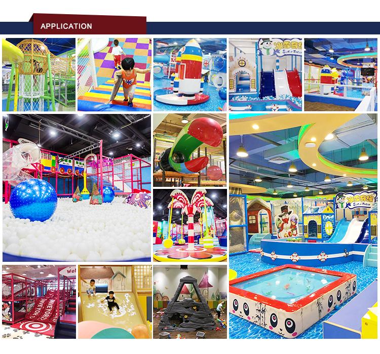 Parque Temático niños adultos parques gran comercial equipo del patio interior de bola suave