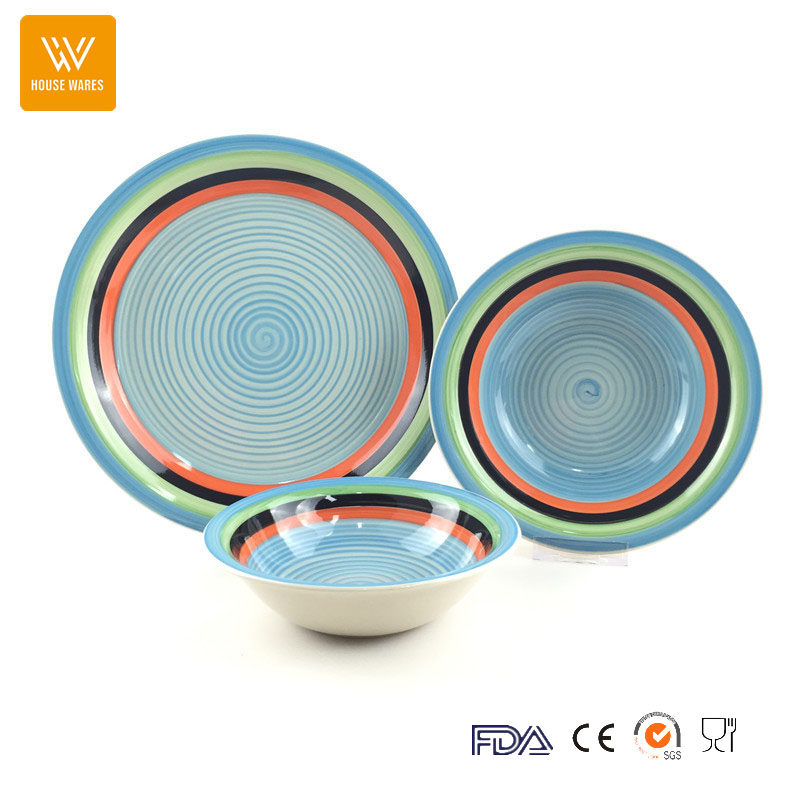 ceramic plain complex color circle portuguese tableware / dinnerware