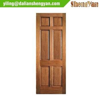 Simple design unique cheap modern birch interior wood door for Simple door designs for home