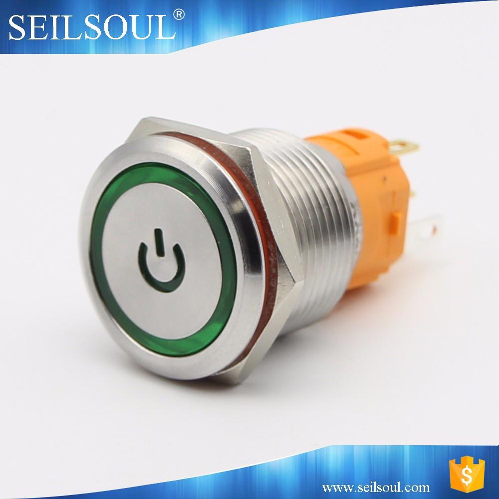 haute fiabilit power symbole lumineux anneau lumineux mini led bouton lumi res commutateur de. Black Bedroom Furniture Sets. Home Design Ideas