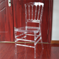 Wedding Event Crystal Clear Plastic Resin Cheltenham Chair Napoleon YC-P57
