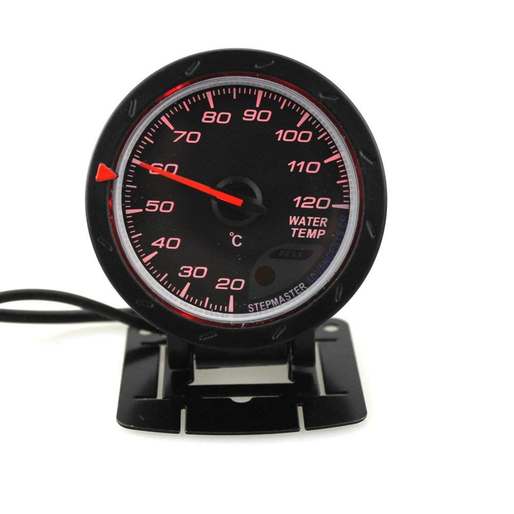 uxcell Universal Motorcycle 12V 52mm Dia LED Oil Temperature Gauge Meter with Sensor Replacement