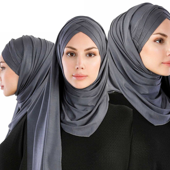 Fashion Women Muslim Hijab Cotton Scarf 2019
