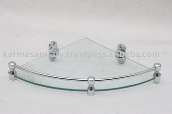 bathroom corner glass shelves - Bathroom Accessories Glass Shelf