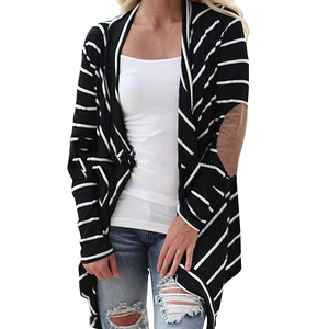 Wholesale Plus Size Striped Fat Ladies Oversized Cardigan Women Sweaters Knitwear Women