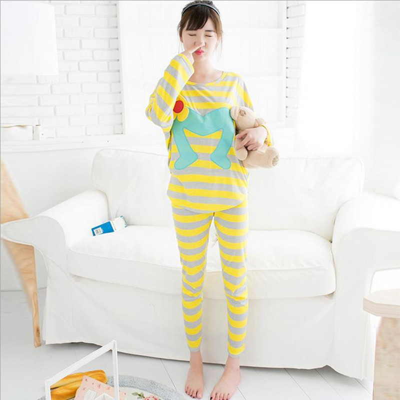 Get Quotations · New Autumn women pajamas winter fashion Long-Sleeve pyjamas  femme striped women pajama sets cotton 1d6cf3ef9