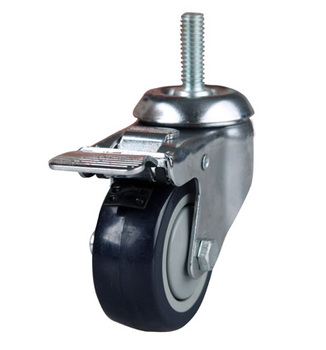 "Durable 3"" TPR Medium Duty Scaffold Caster With Total Brake& Ball Bearing,75x32mm Wheel Size."