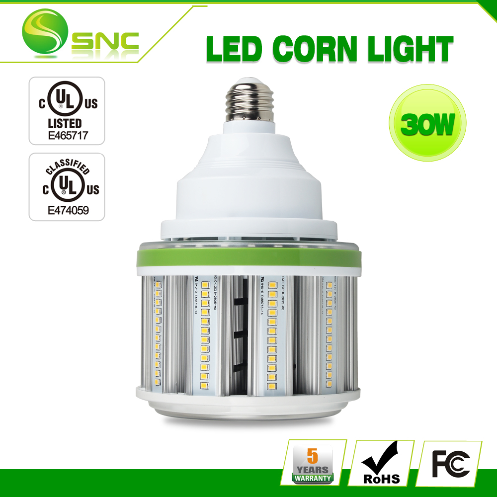 Direct replacement for Metal Halide, easy Installation,Long lifespan and good heat dissipation 30w led corn lamp