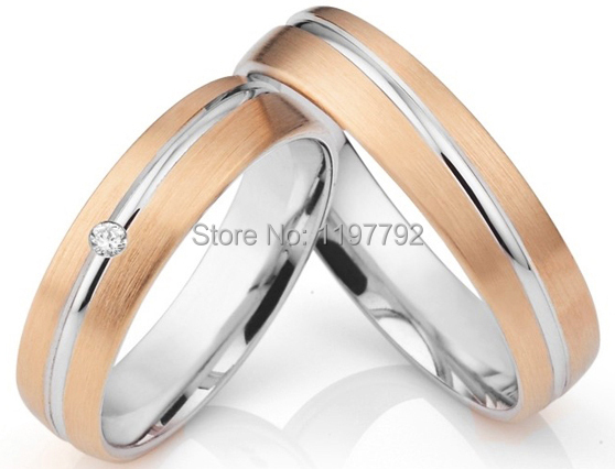 Whole Jewelry 18k Rose Gold Plated Handmade European Anium Fantasy Wedding Bands Engagement Rings Sets For