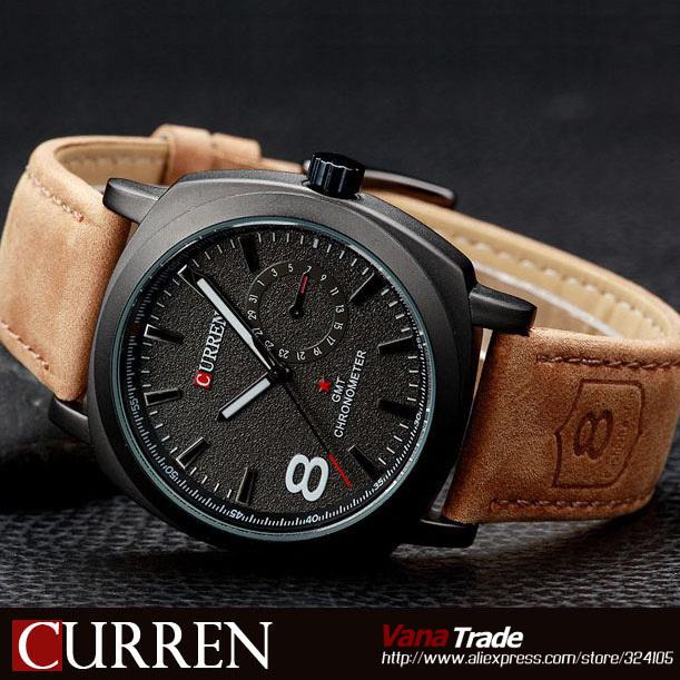 Новый оригинальный CURREN 8139 кварцевые часы наручные часы мода армия  армия моде спорт свободного покроя часы 05aeb178aa6