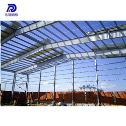 Fast assembled two story steel structure warehouse