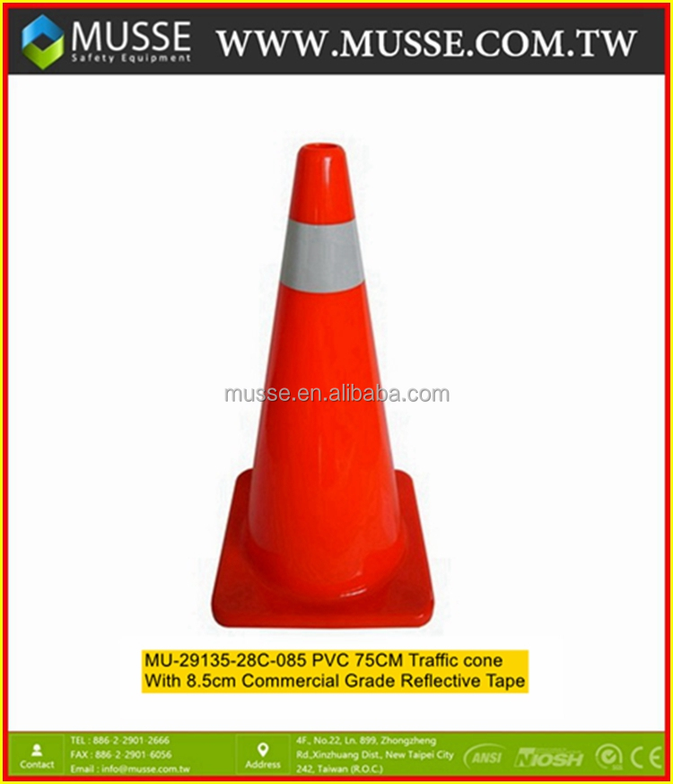 MU-29135-28C-085 750mm Reflective traffic cone with Reflective tape