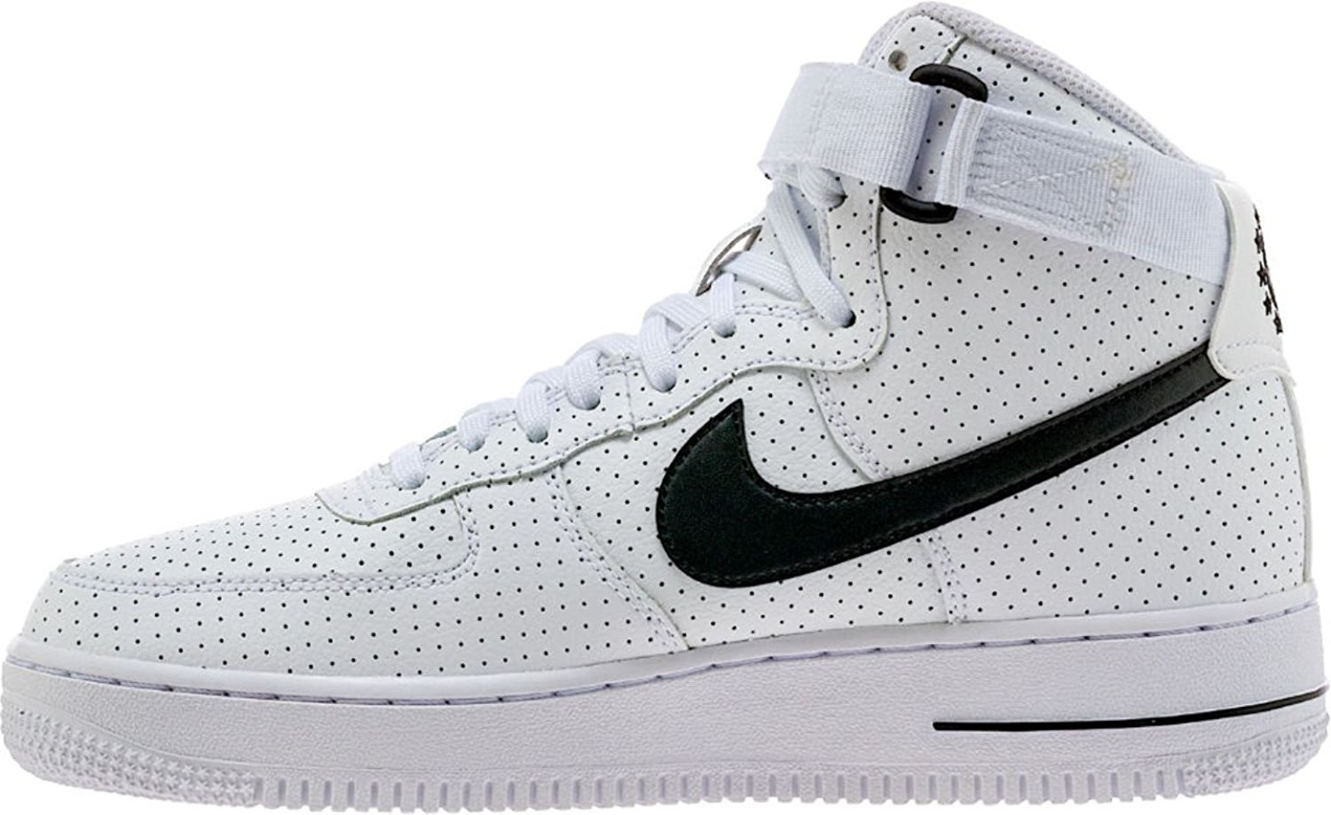 purchase cheap b7bb0 8d231 Get Quotations · Nike Air Force 1 Hi G.S Youth Big Kids White Black  653998-102