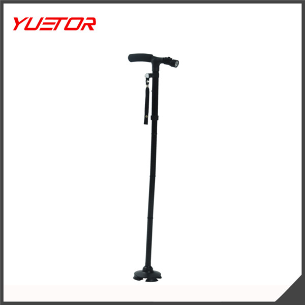 Trusty Cane elderly blind smar Ultra-light LED Folding Walking Triple Head Pivot Base Adjustable for old man trusty walking cane