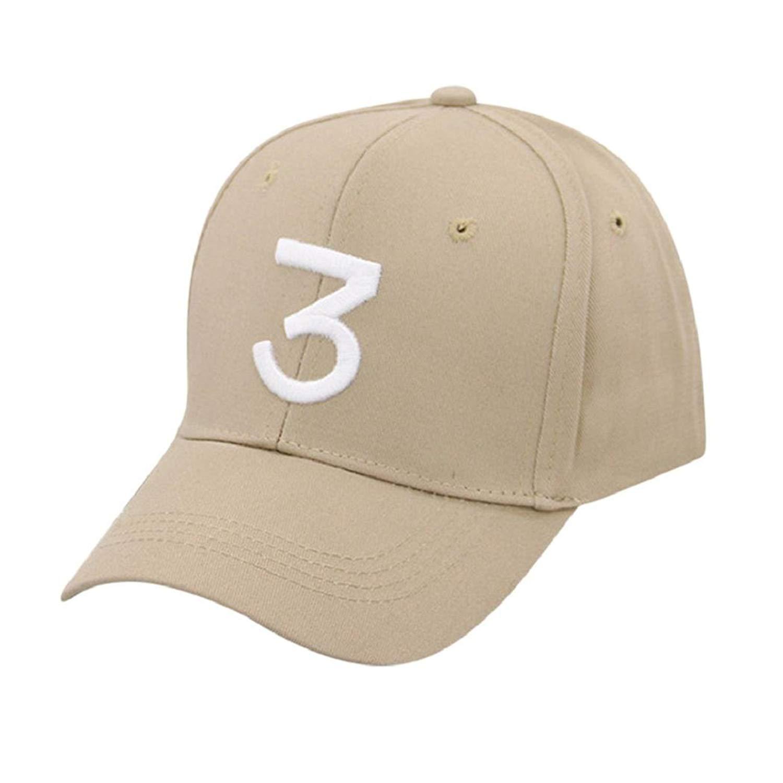 ShenPr Unisex Vintage Number 3 Low Profile Six Panel Adjustable Baseball  Cap Hat Twill Adjustable Dad ff2a4420a3ee