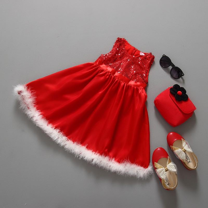ventas directas de la fbrica del beb vestidos de navidad formal vestido de lentejuelas sin mangas