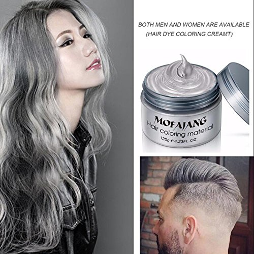 Buy Silver Gray Hair Wax ,YHMWAX Fashion Colorful Hair Wax Pomades ...