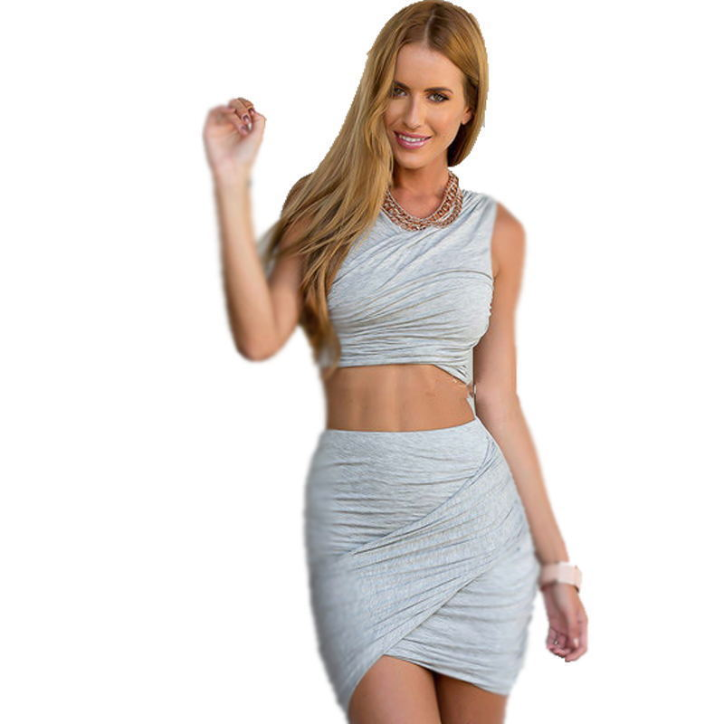 ca3558995c3f 2 Piece bandage Dress Women Sleeveless Print Cotton Floral Long Dresses  Ladies Sexy Open Back Dress Femininos 2015