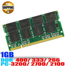 Laptop Memory Ram SO-DIMM DDR1 PC 3200 2700 2100 / DDR 400 333 266 MHz 1GB 200PINS For Notebook Computer Sodimm Memoria Rams