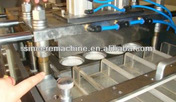 koffie en thee kopjes deksel making machine/plastic deksel making machine