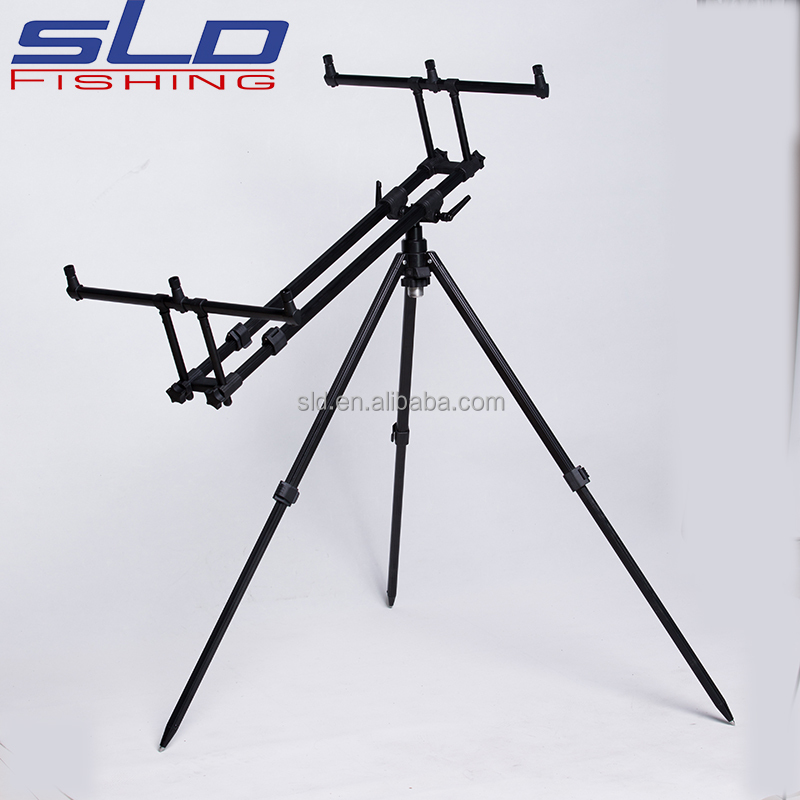 Black painting folding aluminum carp fishing rod pod