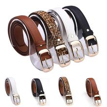 New 2015 Fashion Women Belt Brand Designer Hot Ladies Faux Leather Metal Buckle Straps Girls Fashion Accessories
