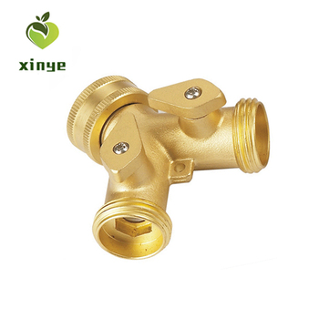 "Watering Fittings Garden Hose Connector Metal Material 3/4"" Y-switch Tap Coupling"