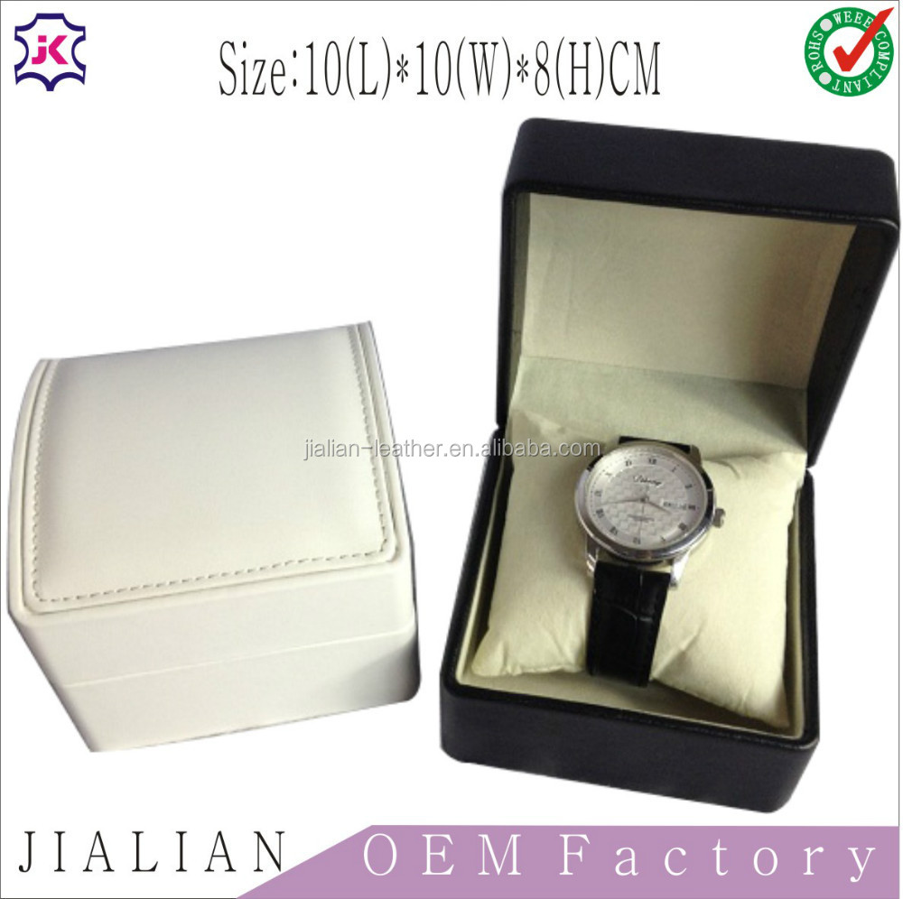 Fashion black Color engraved leather watch boxes for men,customized watch travel case