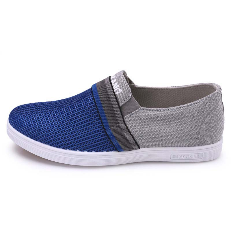 Summer fashion brand comfortable breathable hollow out men's mesh sneakers male Slip On casual canvas sneaker flat shoes RME-062