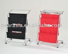 Hot Metal Display with Wheels Magazine Rack