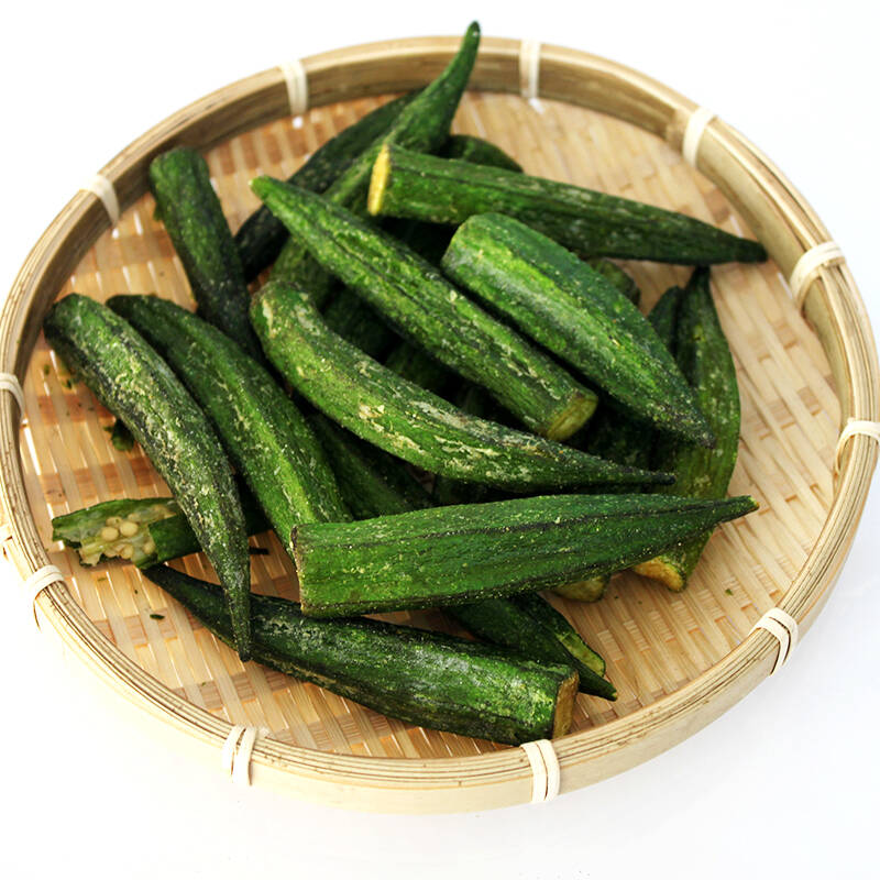 organic healthy foods freeze dried okra