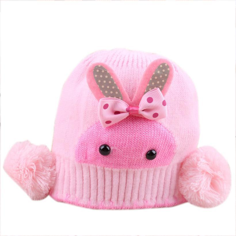 e48b997e8da ... Braids Hat · Hot sale Infant Toddler Warm Knitted Baby Hat Lovely  Rabbit With Ear Flap Cap