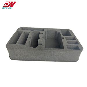 2018 Customized die cut foam sponge box packaging black foam sponge