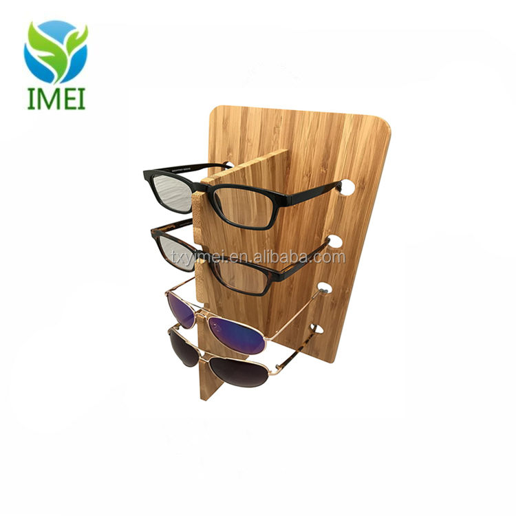 Sunglasses Display Wooden Rack Vertical Eyewear Organizer Holder Stand