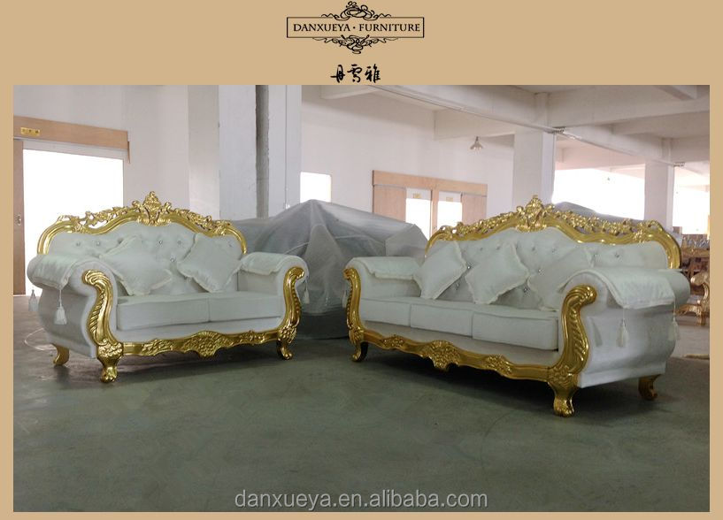 wooden furniture living room sofa set luxury wooden carved sofa gold