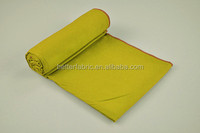 customize different yellow type of microfiber towel fabric