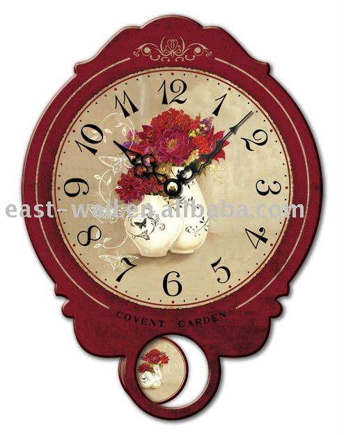 Wooden Table Wall Clock