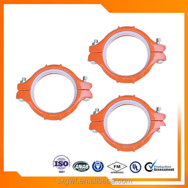 Ductile Iron Grooved Fitting Heavy Duty Flexible Coupling
