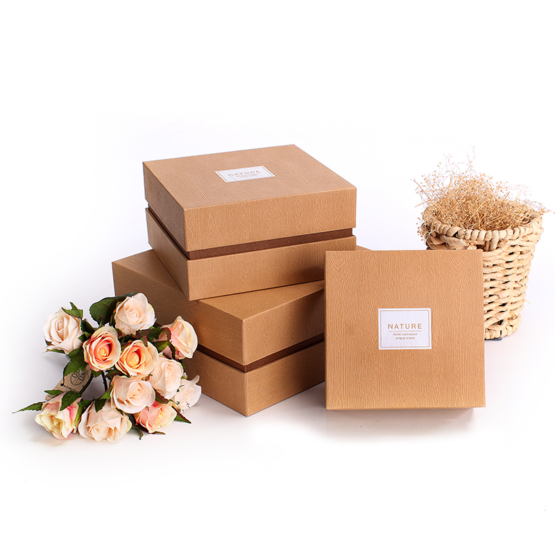 brown gift box custom printed cosmetic/tea boxes Hotsell paper packaging box products