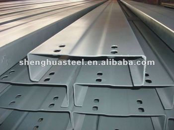 Galvanized And Low Cost C Steel Beam Section Shaped