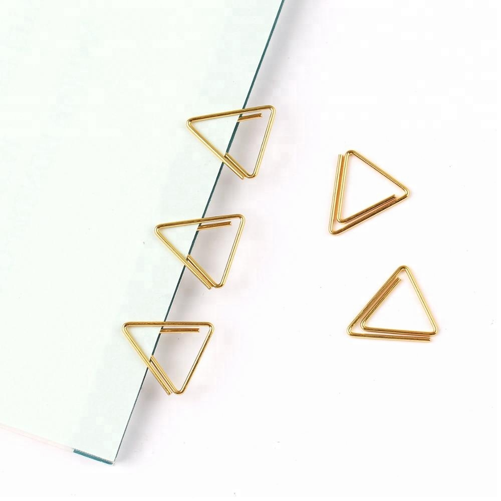 Japanese Design Custom Logo Gold Paperclip Special Triangle Paper Clip -  Buy Design,Triangle,Paper Clip Product on Alibaba com