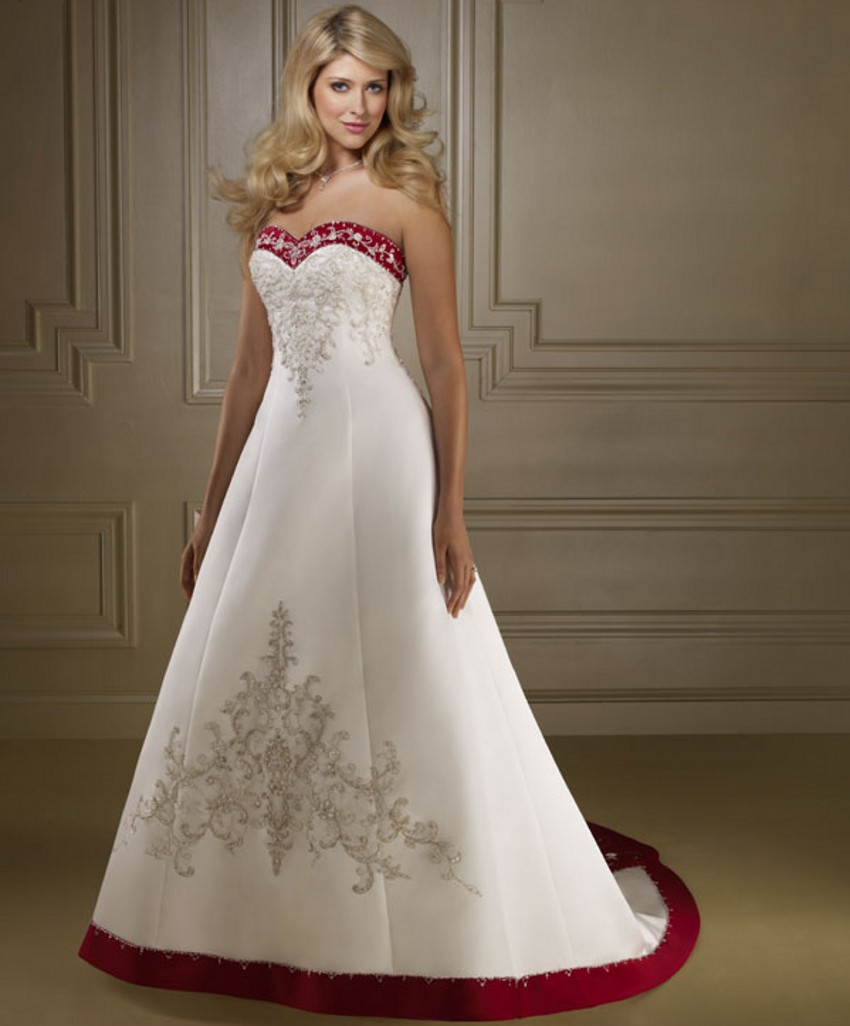 Red And White Wedding Dresses: Bride Bridal Cheap Red And White Wedding Dresses China
