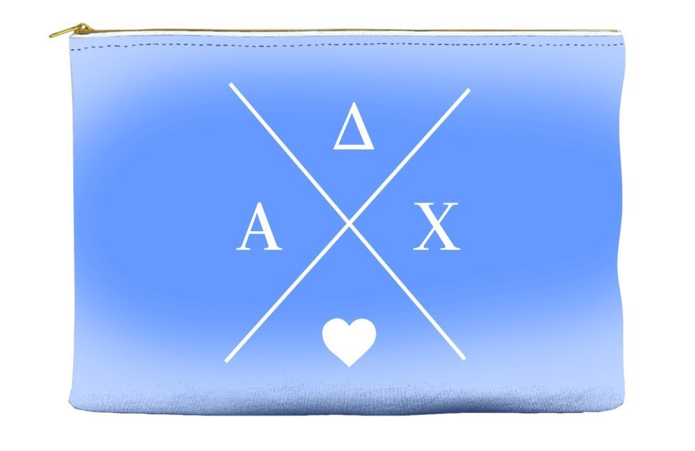 Alpha Delta Chi Hipster Logo Purple Cosmetic Accessory Pouch Bag for Makeup Jewelry & other Essentials