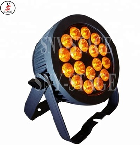 12w rgbw led slim par light 18 led 4/5/6in1 led flat par stage light
