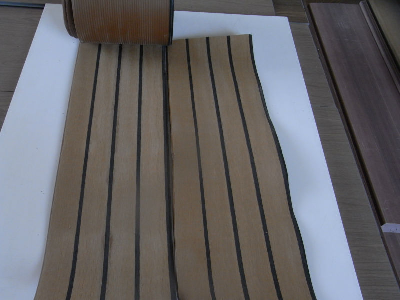 Marine vinyl flooring rubber non skid teak deck for boat for Non slip composite decking