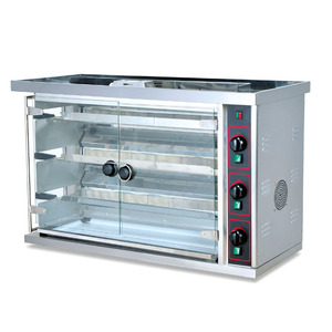 3 Layers Gas chicken rotisserie with Capacity 15pcs Whole Chicken
