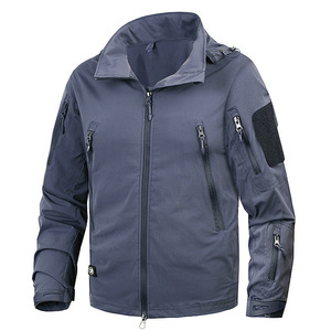 Man Tactical Outwear US Army Breathable Nylon Light Windbreaker