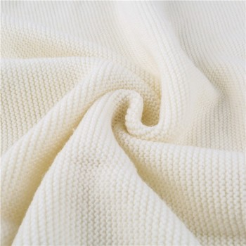 Durable Washable Super Soft Merino Wool Purl Knitted Baby Blanket ...