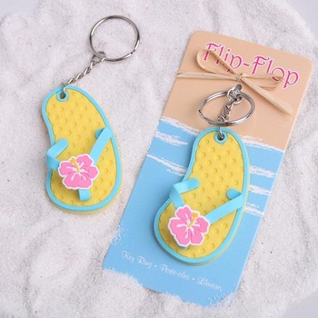 Fashionable Flip Flop Cheap Wedding Souvenirs Keychain Gifts For